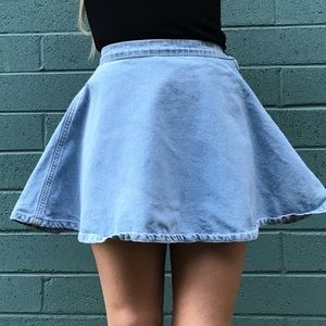 American Apparel Light Wash Denim Skirt